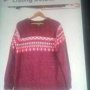 SWEATER SALE $18 Dip fairisle sweater L